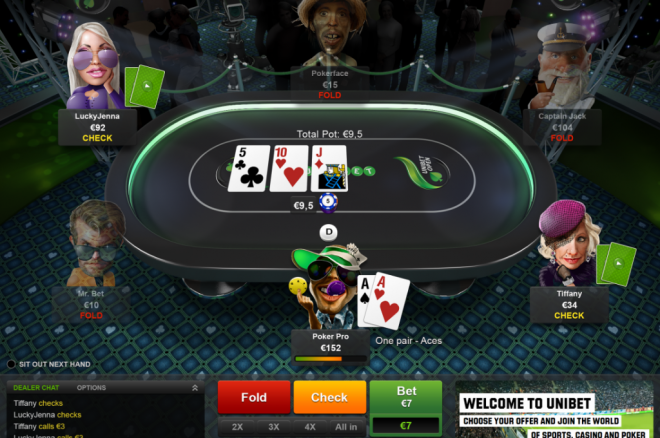 Unibet is waiting for you in poker rooms